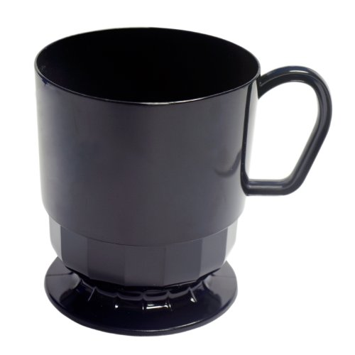 Party Essentials Elegance Hard Plastic Coffee Cup w/Handle, for sale  Delivered anywhere in USA