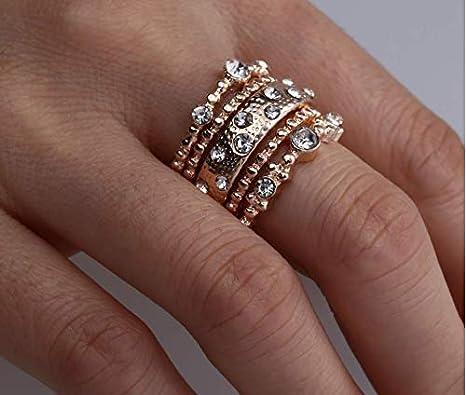 Amazon Com Aiyuyu Fashion Rose Gold Wedding Bands Wedding Rings