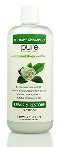 PURE Tea Tree Oil Shampoo, 26.5 oz. Tea Tree Essential Oil, Deep Cleansing & Hydrating for Dandruff, Itchy Scalp & Dry Hair. Natural Tea Tree Shampoo, Sulfate Free!
