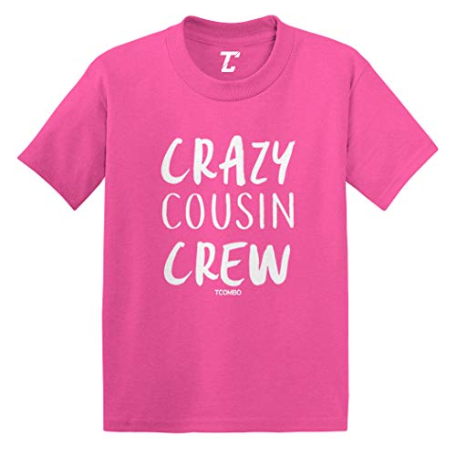Crazy Cousin Crew - Cute Funny Infant/Toddler Cotton Jersey T-Shirt (Pink, 4T)