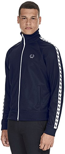 Track Jacket Fred Carbon Perry Nastro Da Blue Laurel Blu 5qH14UwxgH
