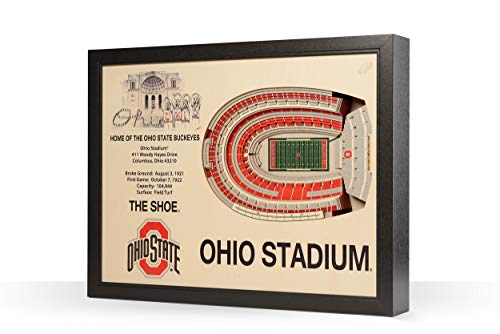 NCAA Ohio State Buckeyes 25-Layer Stadiumviews 3D Wall Art