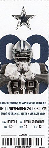 2016 Dallas Cowboys v Washington Redskins Ticket 11 24 AT T Stadium 32461 477da788d