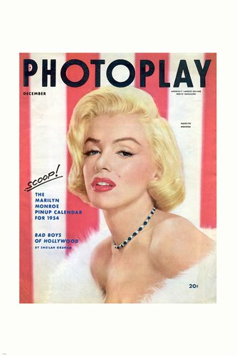 1954 MARILYN MONROE PHOTOPLAY magazine cover poster SULTRY S