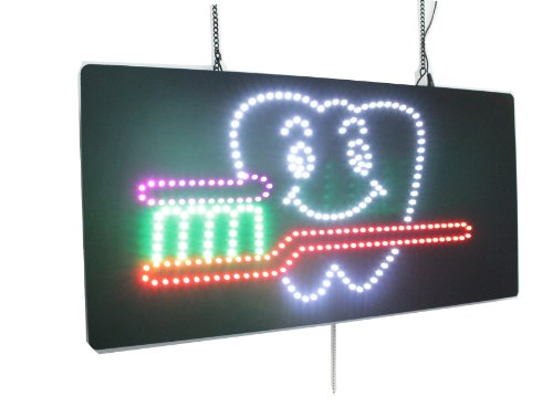 Dental, Dentist, Dentistry, High Quality LED Open Sign, Store Sign, Business Sign, Windows Sign by Topking LED
