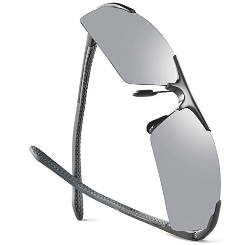 Sports Sunglasses For Men Women UV400 Protection Golfing Driving Fashion Unbreakable Metal Mirrored Sunglasses -