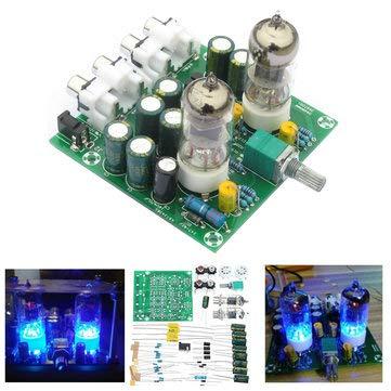 Arduino Compatible SCM & DIY Kits Module Board - 12V 1A 6J1 Value Preamp Tube Preamp Amplifier Board PreAmplifier Module Pre-Amp Headphone Preamp Bile Buffer Kits Stereo Bass HIFI X10-D (Preamplifier Kit Stereo)