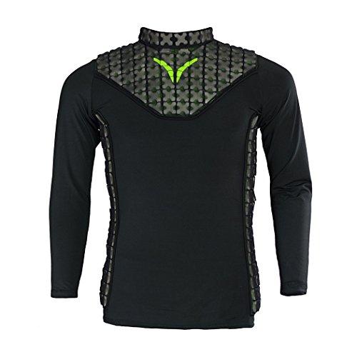 Youth Hockey Goalie Chest - Verbero Shield Padded Hockey Goalie Shirt (YS)