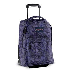 Purple Zebra Jansport Rolling Backpack Girls