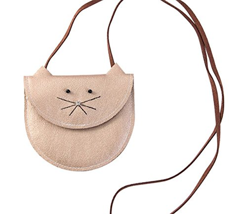 CRB Fashion Little Girls Toddler Kitty Cat Kitten Handbag Shoulder Cross body Bag Purse (Beige Cat) Little Kitty