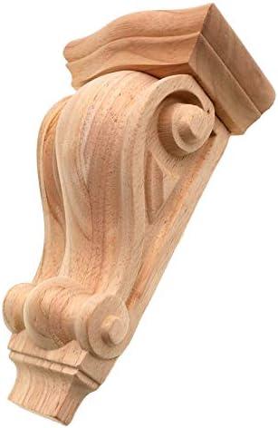 2 uds 5cm Floral madera tallada calcoman/ía apliques de esquina marco muebles de pared tallado en madera figuras de madera decorativas artesan/ías decoraci/ón del hogar