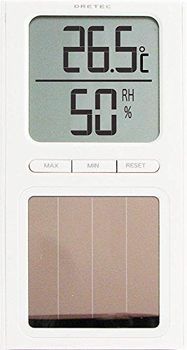 드레텍 (dretec) [건전지가 필요없는]태양열 온 습도계 화이트 O-223WT