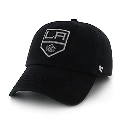 NHL Los Angeles Kings '47 Brand Franchise Fitted Hat, Black, Large (Los Angeles Kings Hat 47)