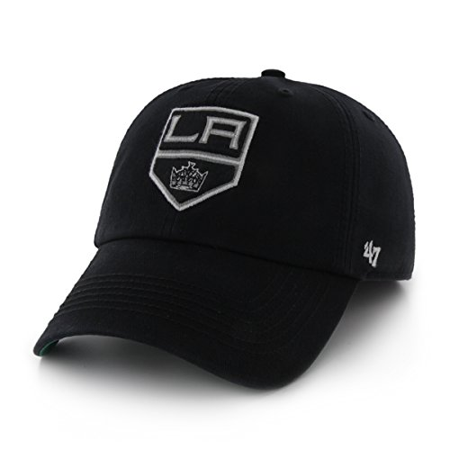 Old Time Hockey Stanley Cup (NHL Los Angeles Kings '47 Brand Franchise Fitted Hat, Black, Large)