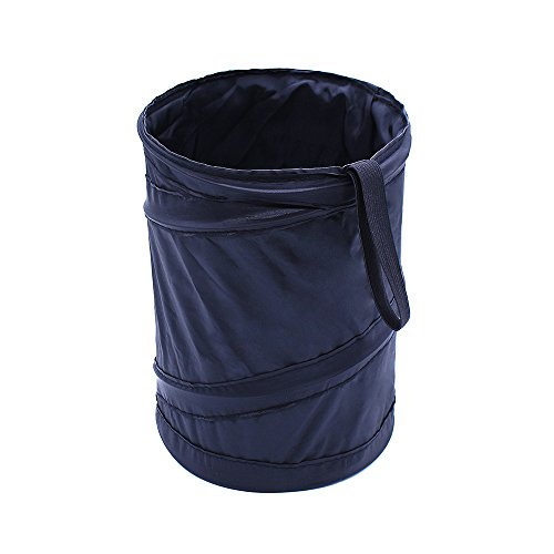 IFUNLE Universal Traveling Portable Car Trash Bag Garbage Can Black Mini Collapsible Pop-up Leakproof Trash Can