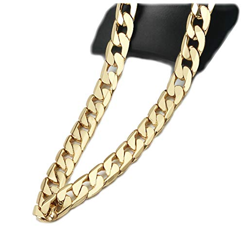Gold Chain Necklace 9MM 14K Diamond Cut Smooth Cuban Link with a Warranty of A Lifetime USA Made! (27)