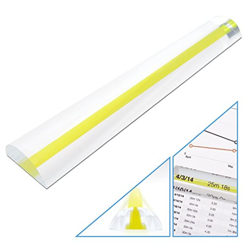MagniPros 2X Magnifying Bar Magnifier Ruler with Guide Line(so You Won't Miss a line) Ideal for Reading Small Prints and ()