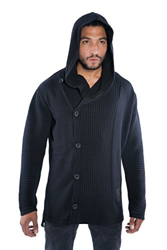 Musterbrand Star Wars Cardigan tricoté Homme Knight Of Ren Sweat à capuche Noir