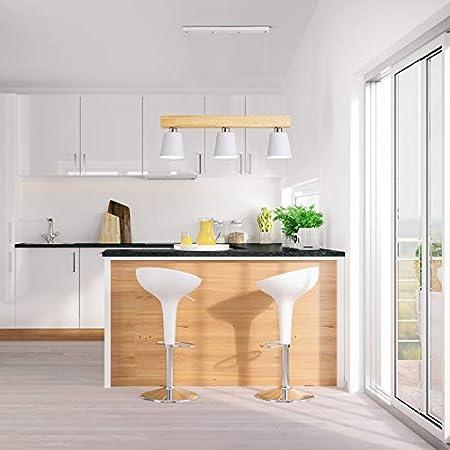 Suspension 5W moderne Lampe LED Plafonnier Hauteur R/églable Lustre plafond Lampe Pendentif lumi/ère Noir 5 lumi/ères