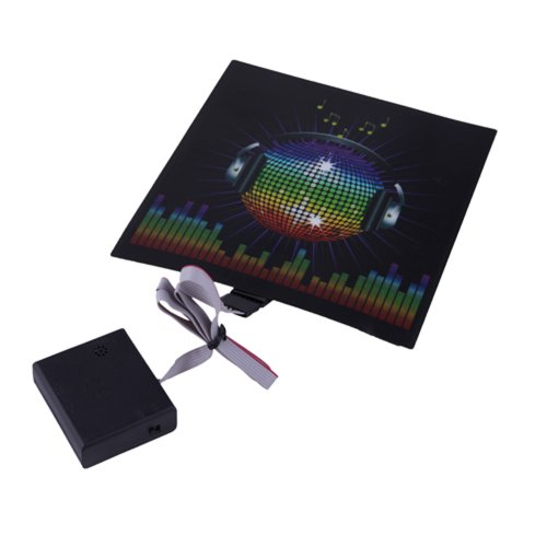 HDE Sound-Activated Rave LED Panel w/ Sensor Module - DJ Headphones (Led Sound Activated Lights)