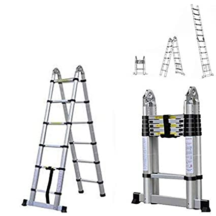 2018 Latest Design DIY Multi-Purpose Aluminium Telescopic Ladder Extension Extend - Portable Foldable (3.2M) AutoBaBa