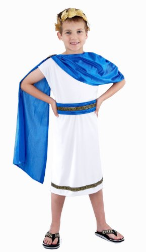 Boys Caesar Roman Emperor Fancy Dress Costume Age 7-9]()