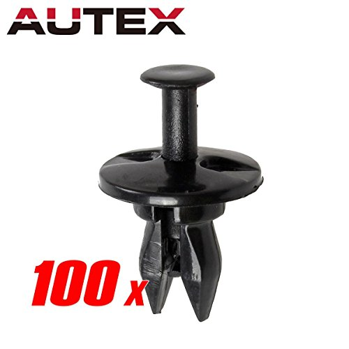 PartsSquare AUTEX Bumper Fascia Push Retainer Clips 100pcs Bumper Pad Blind Rivets for GM 5973400 Fender Liner Fastener Rivet Auto Body Retainers for Chevrolet (Body Chevrolet Malibu Auto)