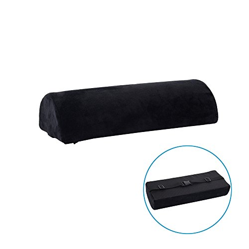 Memory Foam Bolster Pillows for Sleeping, Neck, Pregnancy, Legs, Knees Pain Relief Low Back Support for Office Chairs and Car Seats Semi Roll Pillow with Adjustable Strap and Washable Cover