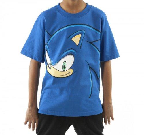 TS144371SEGYT18O Youth Sonic The Hedgehog Face T-shirt XL Blue