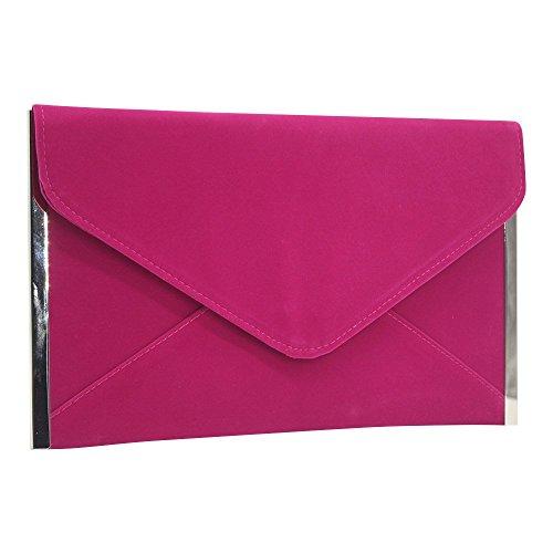 Zipper Pocket Pink Handbag Wallet Clutch with Wocharm Womens Envelope Purse Organizer Hot z8WBgx