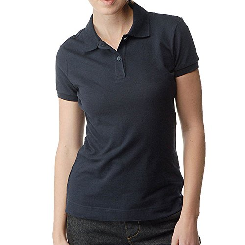 Dickies Girl - Solid Pique Navy Women's Polo - - Girls Pique Polos Solid