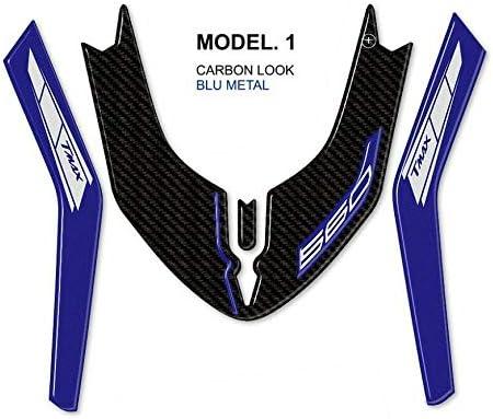 Carbono Plata Pegatina Gel 3D Guardabarros Scooter Compatible Yamaha Tmax 560 de 2020