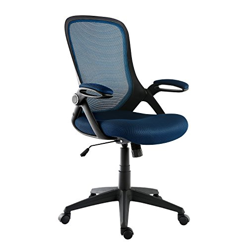 Navy Blue Office Chairs - Poly and Bark Sadia Office Chair in Mesh, Blue