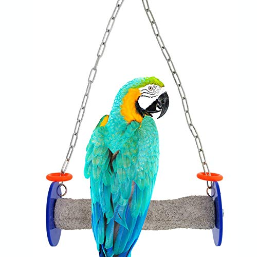 (Sweet Feet and Beak Roll Swing and Perch for Birds, Keeps Nails and Beak in Top Condition and Stimulate Leg Muscles - Safe and Non-Toxic, For Cages - Various Colors and Sizes Available)