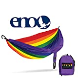 ENO - Eagles Nest Outfitters DoubleNest Hammock, Portable Hammock for Two, Special Edition Colors, Prism Pride