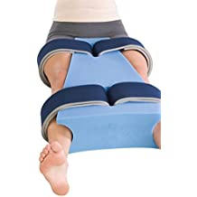 """ProCare Hip Abduction Foam Support Pillow, Small (18"""" L x 6"""" - 12"""" W)"""