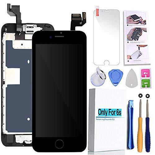 [해외]화면 교체 호환 아이폰 6s 블랙 4.7 (인치) LCD 디스플레이 터치 디지타이저 어조 수리 키트 및 홈 ButtonEar 스피커 전면 카메라 근접 센서 수리 도구 / Screen Replacement Compatible iPhone 6s Black 4.7(inch) LCD Display Touch Digitizer Ass...