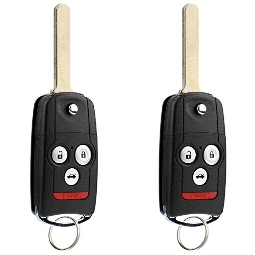 For 09-14 Acura TL, 09-14 TSX, 10-13 ZDX, 08-12 Honda Accord Coupe Keyless Entry Remote Key Fob MLBHLIK-1T - 2 PACK
