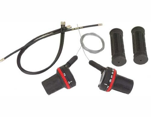 Bike Twist Shifter and Cables Various Sizes