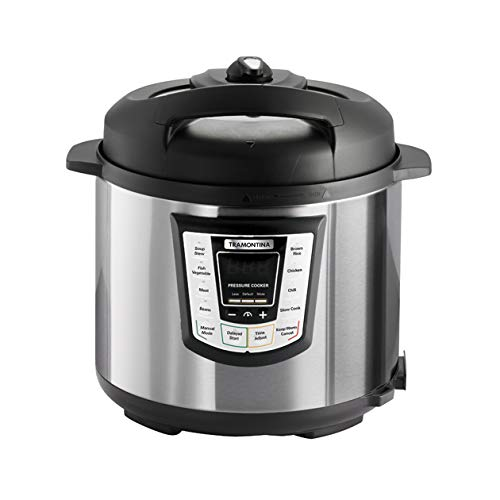 Tramontina 80130/505DS Multi-Use Electric Programmable Nonstick Inner Pot Pressure Cooker, Soup/Stew, Fish/Vegetable, Meat, Beans, Brown Rice, Chicken, Chili Cooker, 6.3-Quart by Tramontina