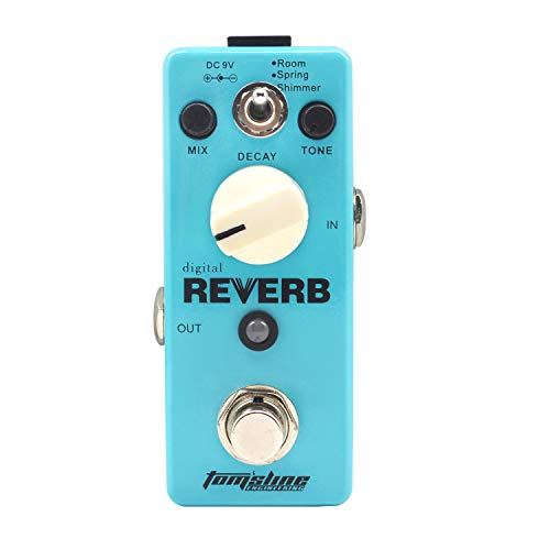 Tom'sline Guitar Digital Reverb Effect Pedal Ocean Verb Single Effect with True Bypass
