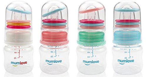 MUAI BPA Free Newborn Baby Feeding Bottle with Slow Flow/ Ra
