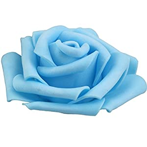 Lightingsky 3 x 1.6 x 3 inches DIY Real Touch 3D Artificial Foam Rose Head Without Stem for Wedding Party Home Decoration 2