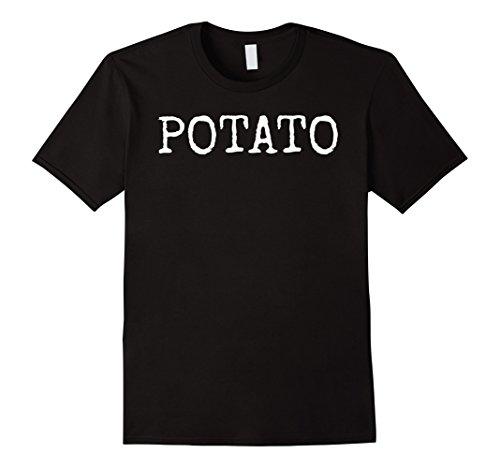Mens Funny I am a Potato T-shirt Lazy Costume Idea for Halloween XL Black