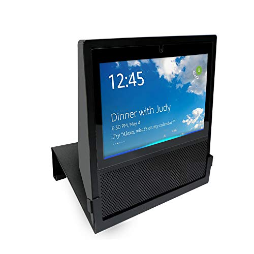 Join2Top Original Stand Holder Wall Mount Bracket Echo Show Home Speaker - (Cameras) Angle Parallel to The Wall Protect Echo Show Charger Cords Organizor, Easy to Install (Black Solid Metal)