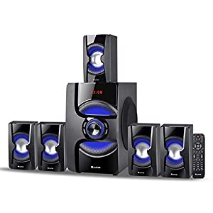 iBELL Castor 2060DLX 5.1 Home Theatre Speaker System Multimedia with FM Radio and Bluetooth, Powerful 140Watts RMS, Super Bass Output, Fully Remote Control Operation