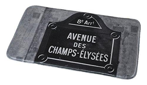 Evideco Printed Microfiber Mat Bath Rug, Gray - Gray Street Sign