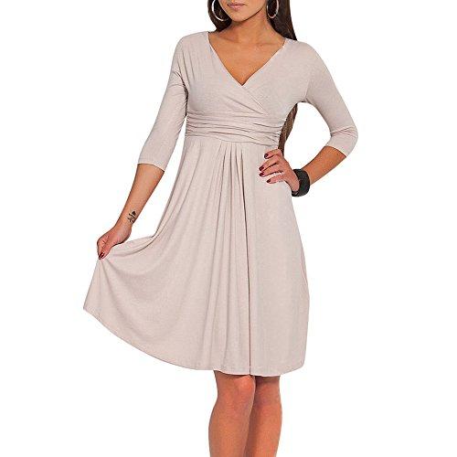 Viscose Jersey 3/4 Sleeve Dress - 4