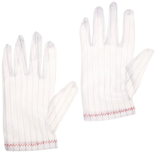 Total Source Manufacturing CRP0270-ESD Nylon ESD Gloves, Small to X-Large by Total Source Manufacturing