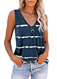 ETCYY Women V Neck Tank Tops Sleeveless Workout Shirts Casual Summer Loose Fit Sports Athletic Yoga T Shirts